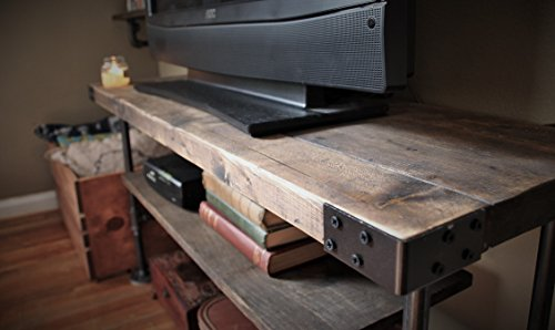 TV Console Table, Industrial Style, 4 Sizes Available, Designed in Detroit and Made in Michigan (Industrial Console compare prices)