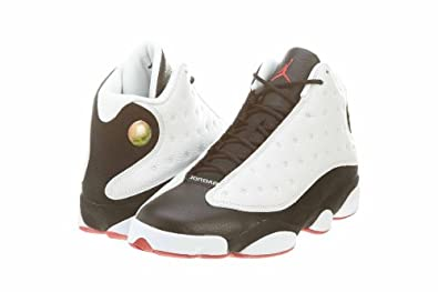 Buy Jordan Mens Retro 13 White Black Red 309259-104 by Jordan