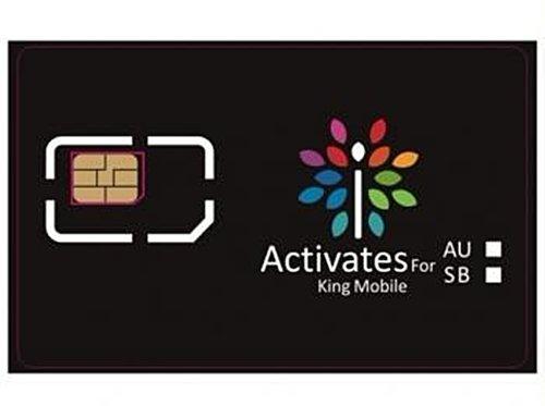 Kingmobile iPhone5専用 NaNoSIMサイズアクティベートカード au用 6007