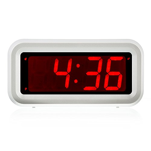 Kwanwa AA Battery Operated Only Mini Loud Electric LED Alarm Clock With Big 1.2'' Red LED Numbers Display For Bedside Travel Kids Children Girls (Rv Nightstand compare prices)