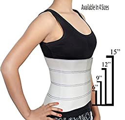 Abdominal Binder Support Post-Operative, Post Pregnancy And Abdominal Injuries. Post-Surgical Abdominal Binder Comfort Belly Binder (Medium (46\