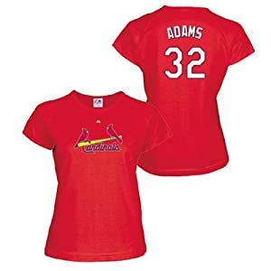 Matt Adams St Louis Cardinals Red Ladies Player T-Shirt by Majestic by Majestic