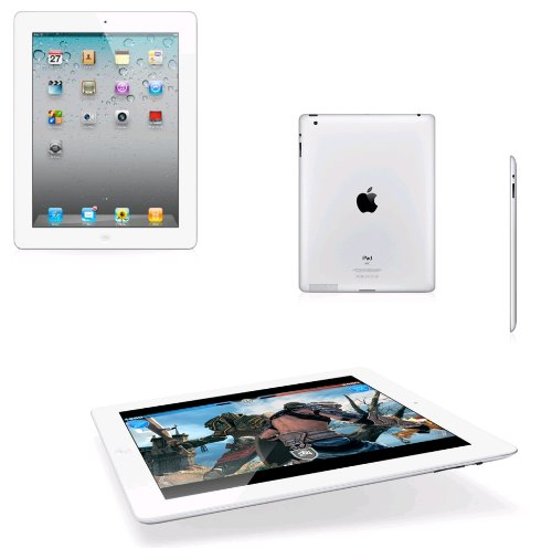 "Apple iPad 2 Wi-Fi - Tablette - 16 Go - 9.7"" IPS ( 1024 x 768 ) - Appareil-photo arrière+ appareil-photo avant - Wi-Fi, Bluetooth - blanc"