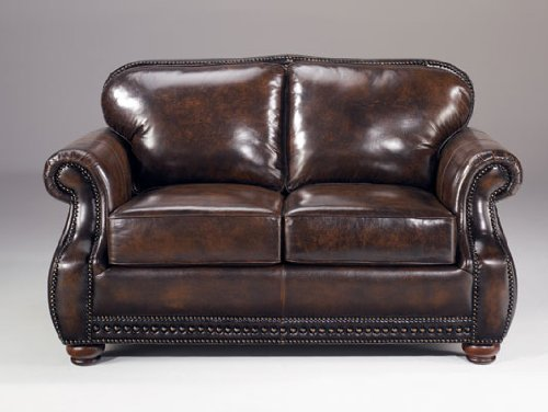 Picture of AtHomeMart Brown Leather Loveseat (ASLY4630035) (Sofas & Loveseats)