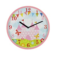 Hometime KW127 - Reloj de pared infantil (mecanismo de cuarzo), diseño de castillo de princesa marca Widdop & Bingham