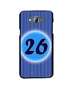 Fuson 2D Printed Numerology Designer back case cover for Samsung Galaxy J7 - D4246