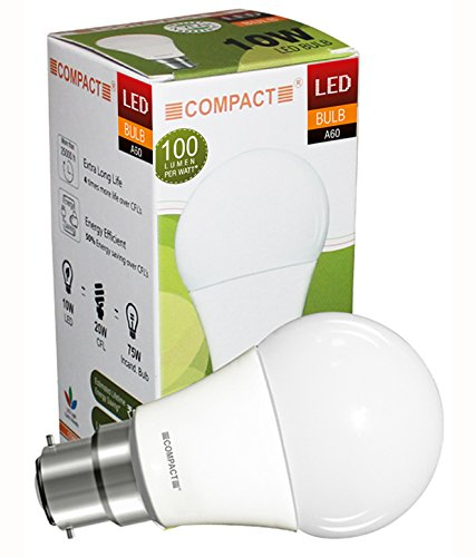 10W B22 LED Bulb (Warm White)