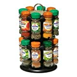 Premier Housewares Pack 16 Bottles Schwartz Spices with Free 2-Tier Spice Rack,