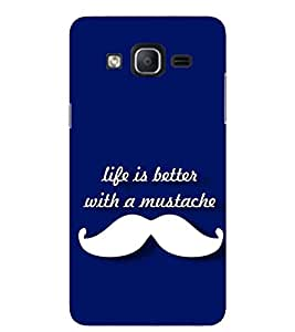 Evaluze moustache love Printed Back Cover for SAMSUNG GALAXY ON5 2015
