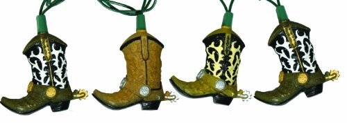 #1 River's Edge Indoor/Outdoor Party Light Set-10 Piece (Cowboy Boots)
