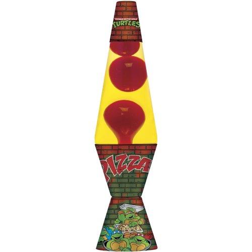 Lava Lite 2420 14.5-inch/20 oz. Teenage Mutant Ninja Turtles Lava Lamp, Red Wax/Yellow Liquid/Decal Base