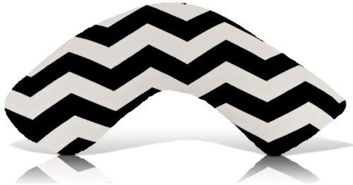 Luna Lullaby Nursing Pillow, Chevron Black - 1
