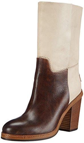 Shabbies Amsterdam Shabbies Premium tubo 20cm boot Pedula last 8.5cm heel, Stivaletti a gamba lunga mod. Classics, imbottitura leggera donna, Beige (Beige (Beige 414)), 39