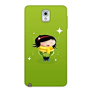 Cute Laughing Girl Back Case Cover for Galaxy Note 3