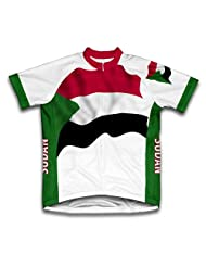 Sudan Flag Short Sleeve Cycling Jersey for Women