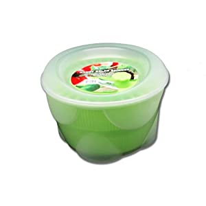 9-inch Diameter Green Handy Salad Spinner (Clear Green) by Salad Spinner