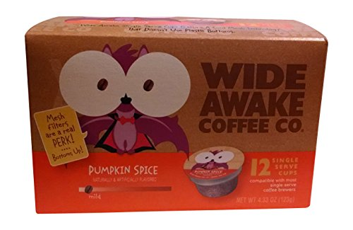 Wide Awake Coffee, K-Cup Portion Pack For Keurig K-Cup Brewers, Pumpkin Spice, 12-Count (Pack Of 3)