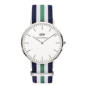 Daniel Wellington Herren-Armbanduhr XL Notthingham Analog Quarz Nylon 0208DW