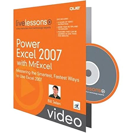 Que Publishing 0789738252 Power Excel 2007 with Mr Excel (Video LiveLessons)