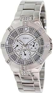 GUESS U12601L1 Dazzling Sport Watch - Silver-tone Steel