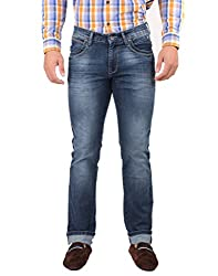 Oxemberg Men's Slim Fit Denim (TL7632_MID BLUE_38)