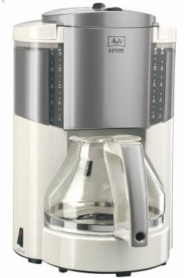 Look Deluxe Filter Coffee Machine: White/Silver