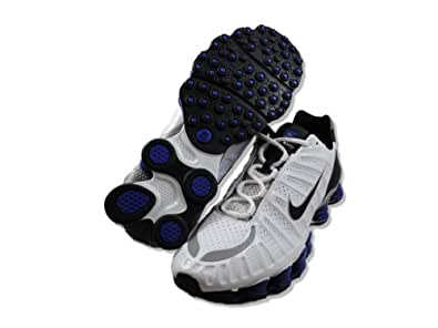 Nike Shox TLX - White / Black-Old Royal-Metallic Silver, 8 D US