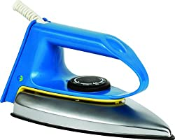 Crompton WD 600-Watt Dry Iron (Blue Handle with Black Skirt)