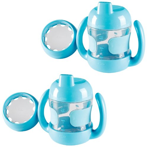 Oxo Tot Sippy Cup With Bonus Training Lid, Set Of 2, 7 Ounce - Aqua front-1017730
