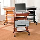 Mobile Laptop Desk - Honey Oak - Improvements