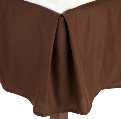 Lamma Loe'S Solid Tailored Bed Skirt/Dust Ruffle, Queen, Chocolate Brown front-652854