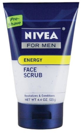 Nivea for Men Energy Face Scrub, 4.4 Ounce Tube