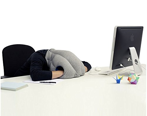Magical Ostrich Pillow Protecting Office the Nap Pillow Car Pillow Everywhere Nod Off to Sleep (Red)