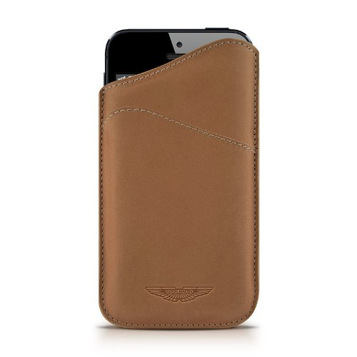 Beyzacases Slim ID Aston Martin Series Custodia per iPhone 5, Camello