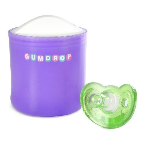 TOMY GumDrop Pacifier Sanitizer with Newborn Pacifier - Green