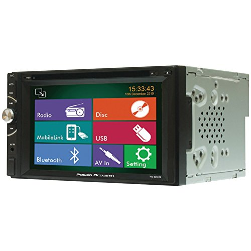 Power Acoustik Pd-620Hb In-Dash Double Din Dvd Am/Fm Receiver With 6.5-Inch Touchscreen Monitor And Mobile Link Mhl Input