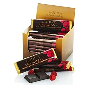 Godiva Dark Chocolate with Raspberry Bars (24 pc.)