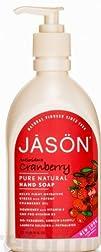 Jason Antioxidant Cranberry Pure Natural Hand Soap 16 Ounce