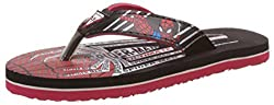 Superman Boys Red and Black Flip-Flops and House Slippers - 11 kids UK/India (30 EU)