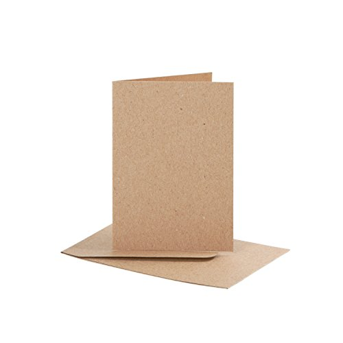 karten und briefumschl ge kraftpapier din a7 20 tlg. Black Bedroom Furniture Sets. Home Design Ideas
