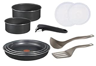 Tefal l0369602 ingenio 5 batterie de cuisine set de 10 - Tefal ingenio5 set 10 pieces noir ...