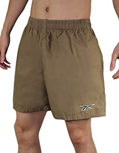 Reebok Mens High Performance Athletic Sports Shorts with Brief Lining XL Brown
