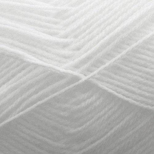 King Cole Comfort Baby 4 ply Super Soft Acrylic & Nylon Knitting Wool (White - 285)
