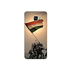 Samsung galaxy A-7 (2016) nkt09 (8) Mobile Case by oker - Soldier with Indian Flag