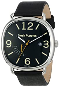 Hush Puppies Orbz Men's Automatic Watch with Beige Dial Analogue Display and Black Leather Strap HP.7102M.2502