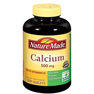 Nature Made Calcium 500 mg + Vitamin D Tabs, 300 ct