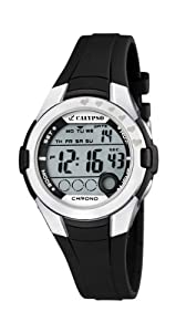 Calypso Chrono - Reloj digital infantil de cuarzo con correa de plástico negra (luz, cronómetro) - sumergible a 100 metros