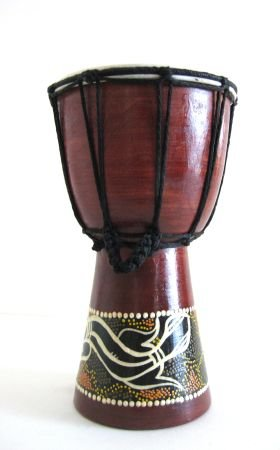 "Djembe Drum, Bongo Percussion African Drum, 9""H"