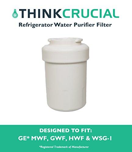 Water Purifier Filter Fits GE Refrigerator MWF GWF HWF 46-9991 WSG-1 WF287 EFF-6013A, Designed & Engineered by Think Crucial