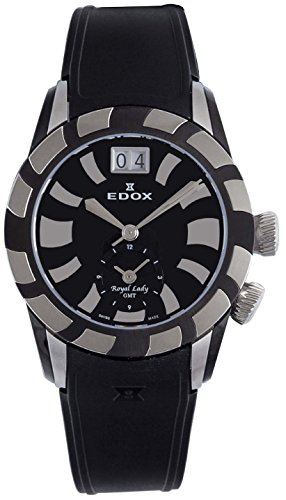 Montre femme EDOX Royal Lady GMT 62005-357N-NIN